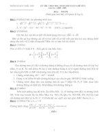 Đề thi hóa học HSG lớp 9 có đáp án đề 5