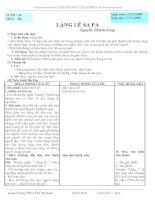 GIÁO ÁN NGỮ VĂN 9 - TUẦN 14 - 3 CỘT