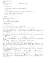 Giáo án 3 cột K11-T39HH(Kiểm tra)