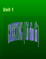 unit 1 english 6