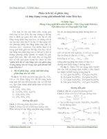 phân tích hệ số phản ứng và ứng dụng trong giải nhanh hóa học