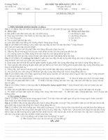 ĐỀ KIỂM TRA GDCD LỚP 8-KÌ I