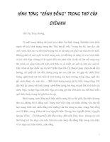 Hình tượng Cánh đồng trong thơ Exenhin
