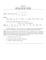 Bộ đề thi HSG lớp 9-Vĩnh Phúc