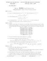 Tuyển sinh 10 chuyên toán 04 (có đáp án)