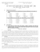 Đề thi HSG tiếng anh vòng 2 (đề 11) có đáp án