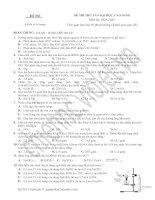 Đề thi thử đại học (Đ 001)