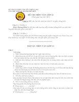 Đề thi Olympic Ngữ văn 11