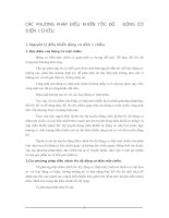 CÁC PHƯƠNG PHÁP ĐIỀU KHIỂN TỐC ĐỘ   ĐỘNG CƠ ĐIỆN 1 CHIỀU
