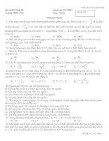 Đề thi thử Tốt nghiệp THPT có đáp án- Đê2
