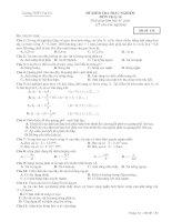 Đề kiểm tra 1 tiết trắc nghiệm 100 %_mã đề 132.