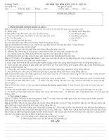 ĐỀ KIỂM TRA GDCD LỚP 8-HỌC KÌ I