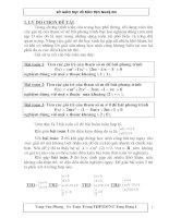 Sáng kiến kinh nghiệm về giải bất phương trình chứa tham số
