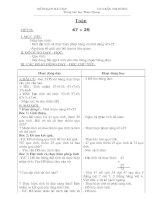 toán lớp 2 hoàn chỉnh