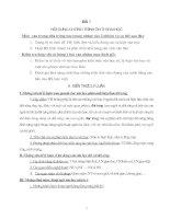 Bài 1: Nội dung chương trình ôn thi Đại học