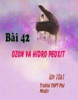 bài 42. ozon và hidro peoxit