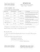 12 Đề kiểm tra môn Ngữ văn lớp 9