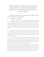 PHÂN TÍCH THỰC TRẠNG TÁC ĐỘNG CỦA CÁC GIẢI PHÁP MARKETING CỦA CÔNG TY DỊCH VỤ THƯƠNG MẠI TRASERCO TỚI KHẢ NĂNG CẠNH TRANH TRONG NHỮNG NĂM QUA.