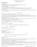 Lí thuyết và bài tập sóng cơ-sóng âm