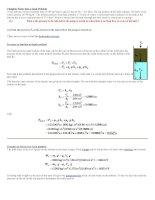Áp dụng lý thuyết thủy tĩnh và động lực học chất lỏng để giải bài toán thực tế