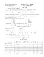 Bài kiểm tra 15 phút môn số học lớp 6