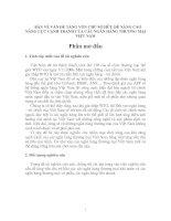 BÀN VỀ VẤN ĐỀ TĂNG VỐN CHỦ SỞ HỮU ĐỂ NÂNG CAO NĂNG LỰC CẠNH TRANH CỦA CÁC NGÂN HÀNG THƯƠNG MẠI VIỆT NAM