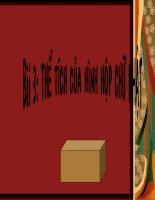 Thể tích hình hộp chữ nhật