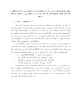 NHỮNG ĐIỂM MỚI TRONG CÁC CHẾ ĐỘ CỦA LOẠI HÌNH BHXH BẮT BUỘC TRONG LUẬT BHXH SO VỚI  NHỮNG QUY ĐỊNH  HIỆN NAY VỀ BHXH