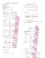 hệ thống kiến thức toán lớp 12 (sau khi sửa chữa)