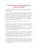 Khám phá các tính năng độc đáo của Instant Messenger