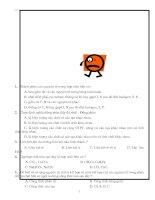 bài tập trắc nghiệm hoá 11