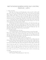 MỘT SỐ KINH NGHIỆM GIẢNG DẠY CHƯƠNG PHÂN SỐ _ LỚP 4