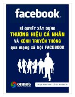 Bộ tài liệu : FaceBook marketing