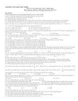 Đề thi thử ĐH THPT BYT lần 1-2009. Môn Vật lý khối A-Mã 502