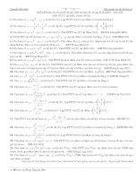 Các bài toán về tiếp tuyến