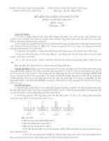Đề thi HSG Hóa tháng 2 (08-09)