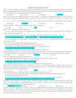 ĐỀ ÔN THI ĐẠI HỌC SỐ 13(09có ĐA)
