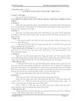 CHỦ ĐỀ TỰ CHỌN TOÁN 9 -1