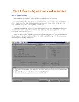 cách kiểm tra bộ nhớ cạc màn hình