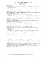 đề cương ôn tập lý 9