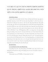 VAI TRÒ CỦA QUÂN CHỦNG PHÒNG KHÔNG KHÔNG QUÂN TRONG CHIẾN ĐẤU ĐÁNH TRẢ PHƯƠNG TIỆN TIẾN CÔNG ĐƯỜNG KHÔNG CỦA ĐỊCH