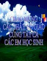 ANH HUONG CUA ANH SANG LEN DOI SONG SINH VAT