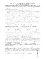 80 bài tập dao động cơ học