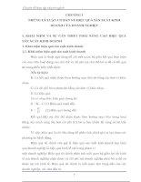 MỘT SỐ YẾU TỐ CHỦ YẾU VỀ TỔ CHỨC VÀ QUẢN LÝ ẢNH HƯỞNG TỚI HIỆU QUẢ HOẠT ĐỘNG SẢN XUẤT KINH DOANH CỦA XÍ NGHIỆP TRONG NHỮNG NĂM GẦN ĐÂY