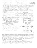 Đề thi HSG Vật lý 12 Trường THPT Quỳ Hợp2