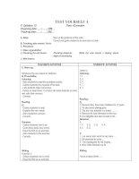Test yourself A and Test 1(Kiều Tính)
