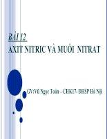Bài 12 - HNO3 và muối nitrat