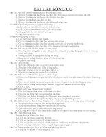 Bài tập chuyên đề 12 phần sóng cơ