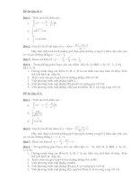 Đề kiểm tra giải tích & hình học 12 - phần 5