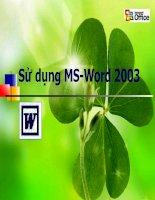 bài giảng M. Bai giang MS Word 2003 CAO MINH ĐỨC